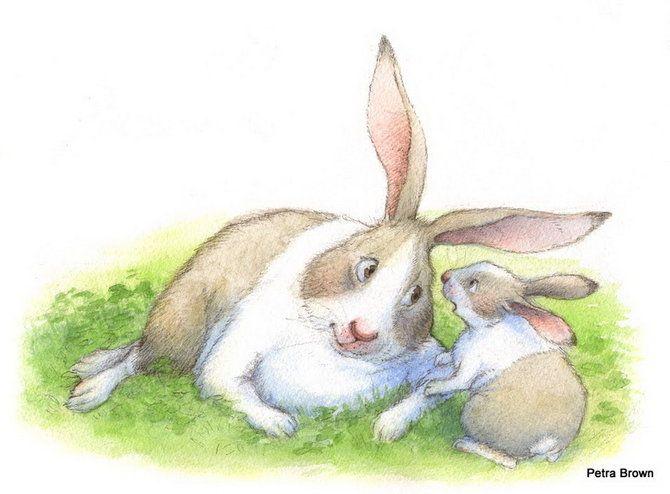 Звездочкой, заяц с зайчатами картинки для детей