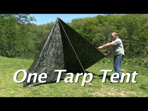 One Tarp Tent Make A Simple Tent With A Floor And A Door For 15 Youtube Family Tent Camping Tent Kids Teepee Tent