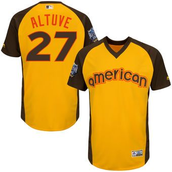 new styles c4005 3a3d5 Youth Houston Astros Jose Altuve Majestic Gold 2016 MLB All ...