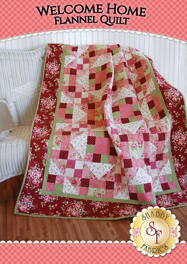Welcome Home Flannel Quilt Kit | Flannel quilts, Fabrics and Patterns : home quilts - Adamdwight.com