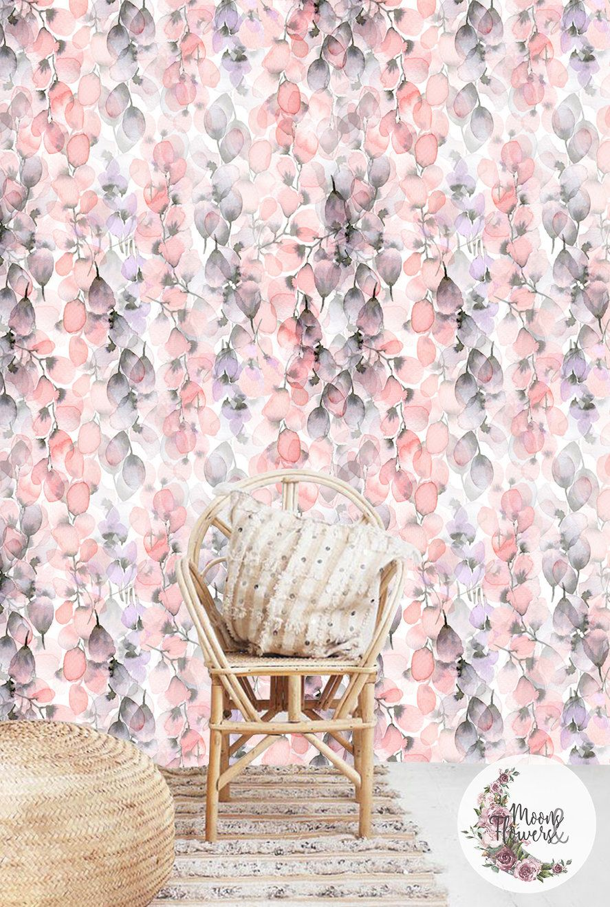 Watercolor Petals Wall Decor Floral Wall Mural Flowers Removable