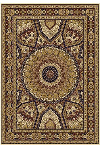 amazon - premium traditional isfahan large 8x11 persian area