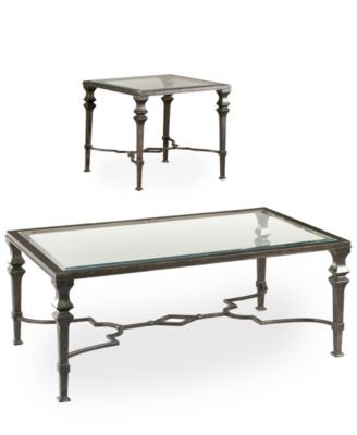 Closeout Novato Tables 2 Piece Set Coffee Table And End Table