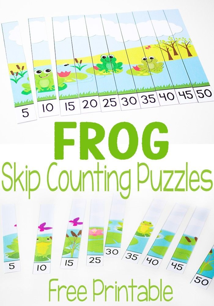 free frog skip counting puzzles counting puzzles skip counting and frog theme. Black Bedroom Furniture Sets. Home Design Ideas
