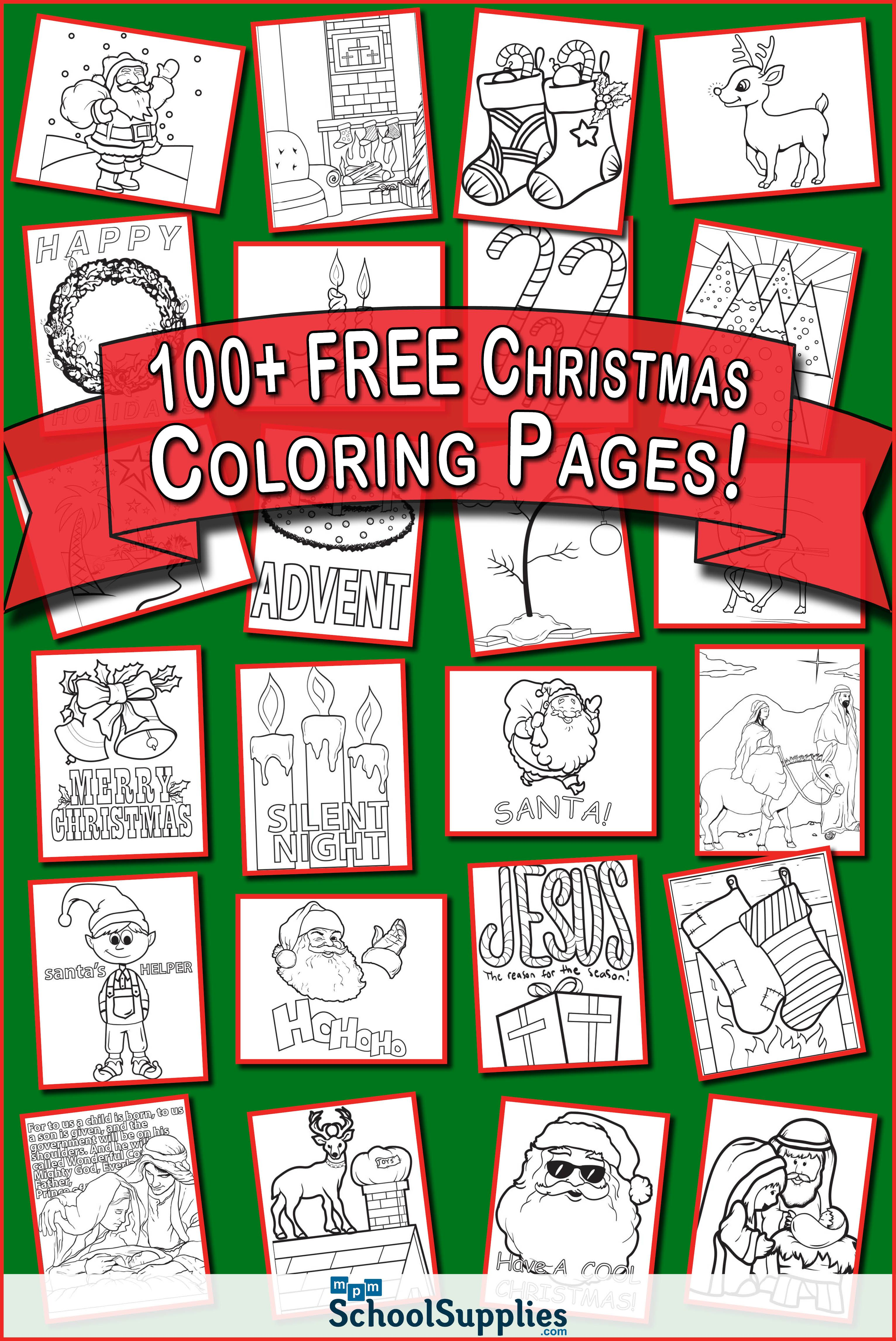 Over 100 FREE Christmas Coloring Pages! Our Christmas coloring ...