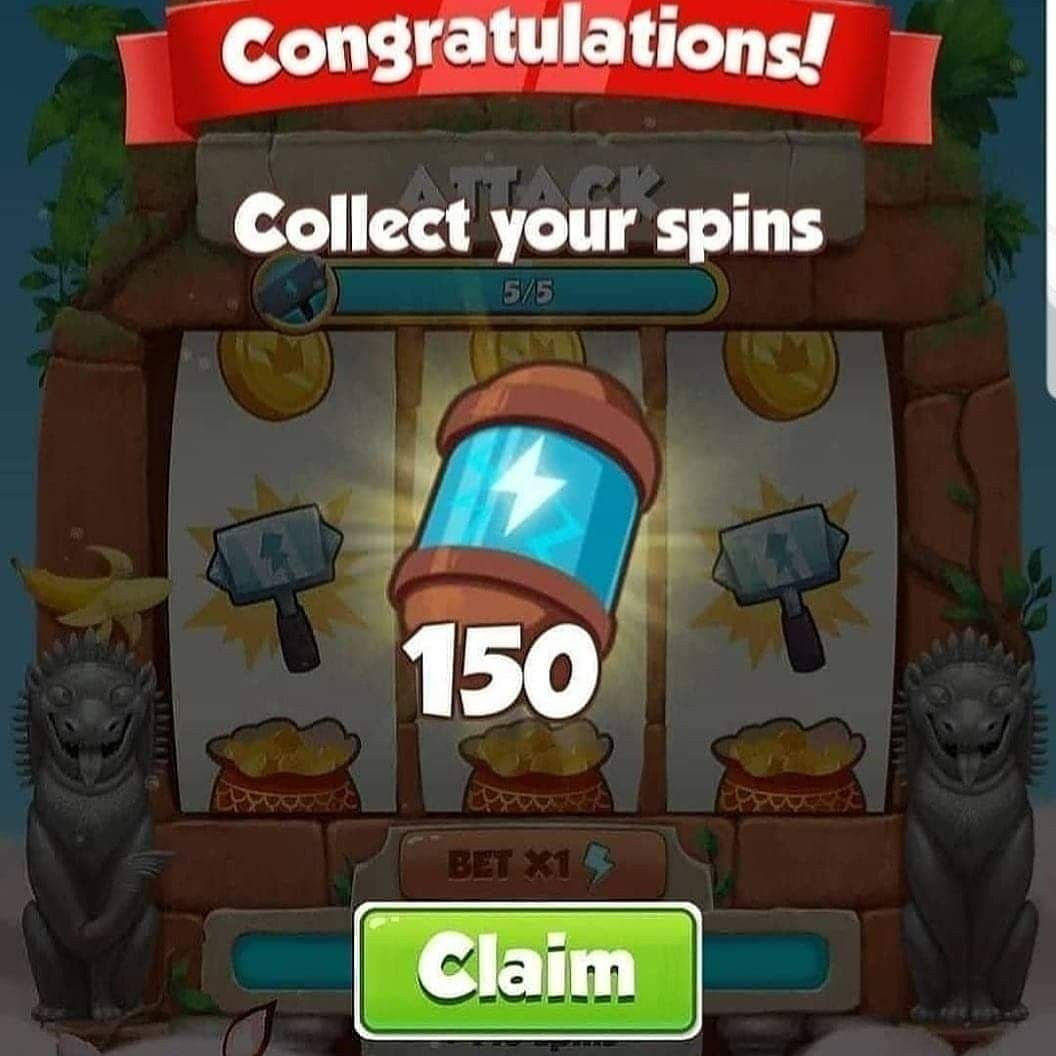 Free 150 spins today coin master hack spinning spin master