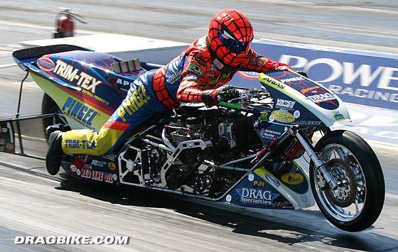 Larry Spiderman Mcbride Motorcycle Drag Racing Drag Bike