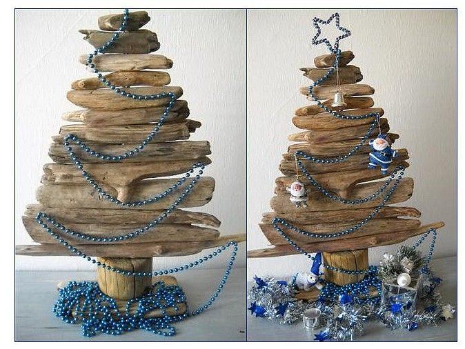 Fabriquer un sapin de Noël en bois flotté, le tuto est sur Au fil de ...
