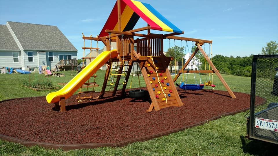 See Why Your Neighbors Are Choosing Rainbow Playsets For Their Backyard New 2018 Installations Rainbow Playset Playset Backyard Fun