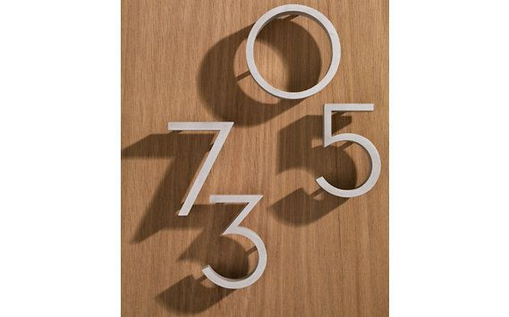 Neutra Modern House Numbers In 2020 House Numbers Midcentury