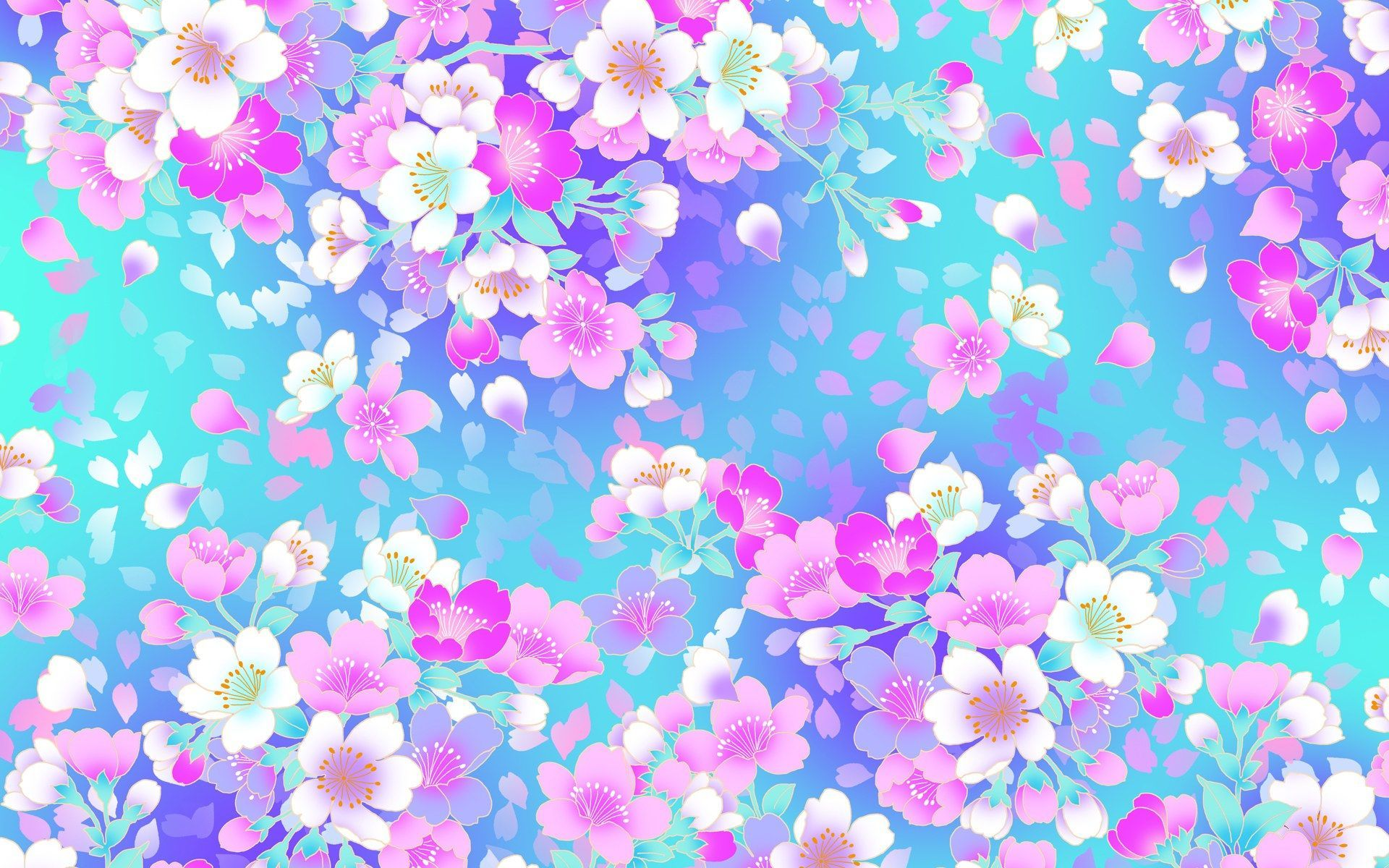 Blue Girly Background For Desktop Wallpaper Vintage Floral