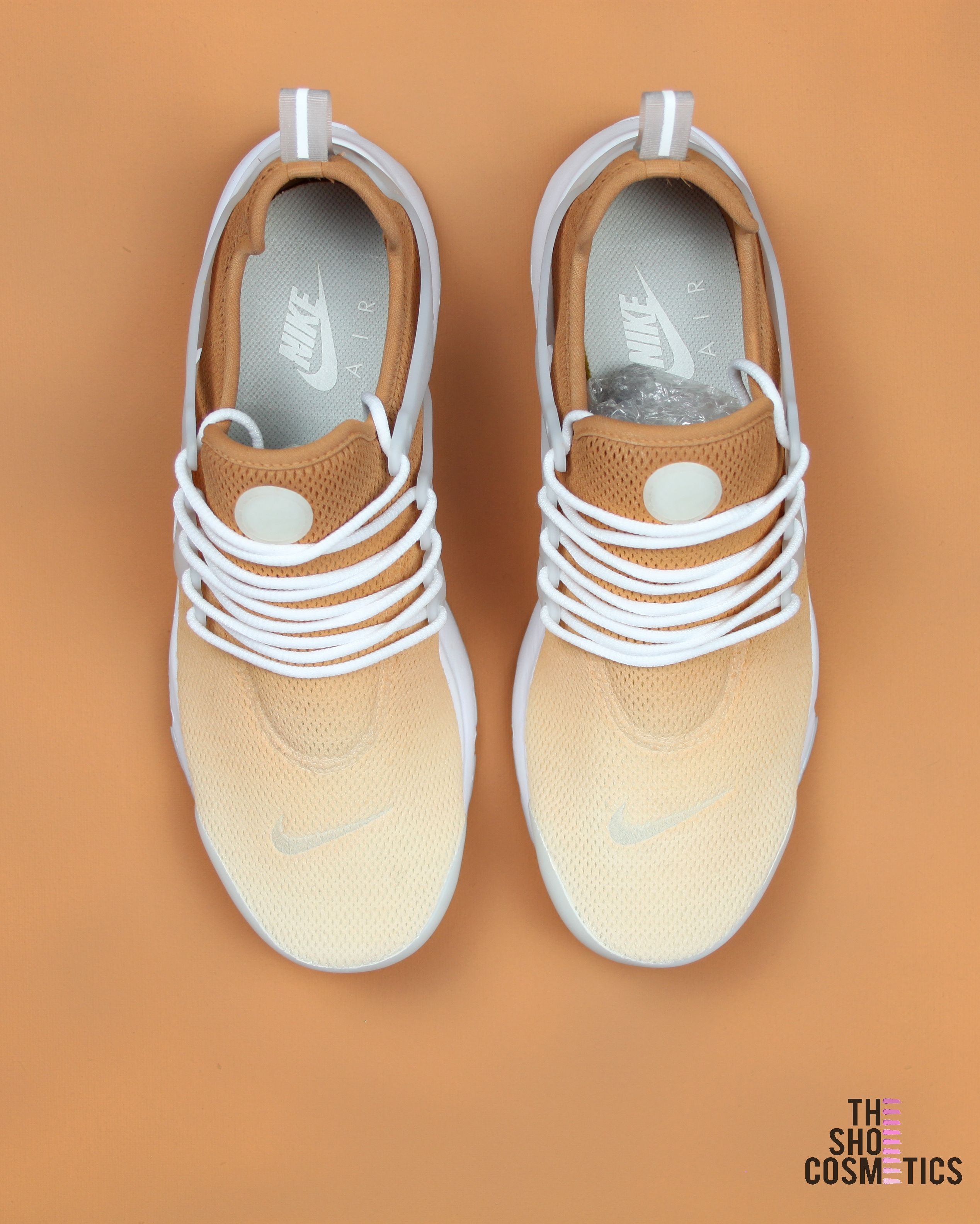 separation shoes 2a606 0f053 Explore our custom Nike Air Presto sneakers in this tan ombre design. If  you love the Nike Air Presto then these Custom Nike shoes are perfect for  you.