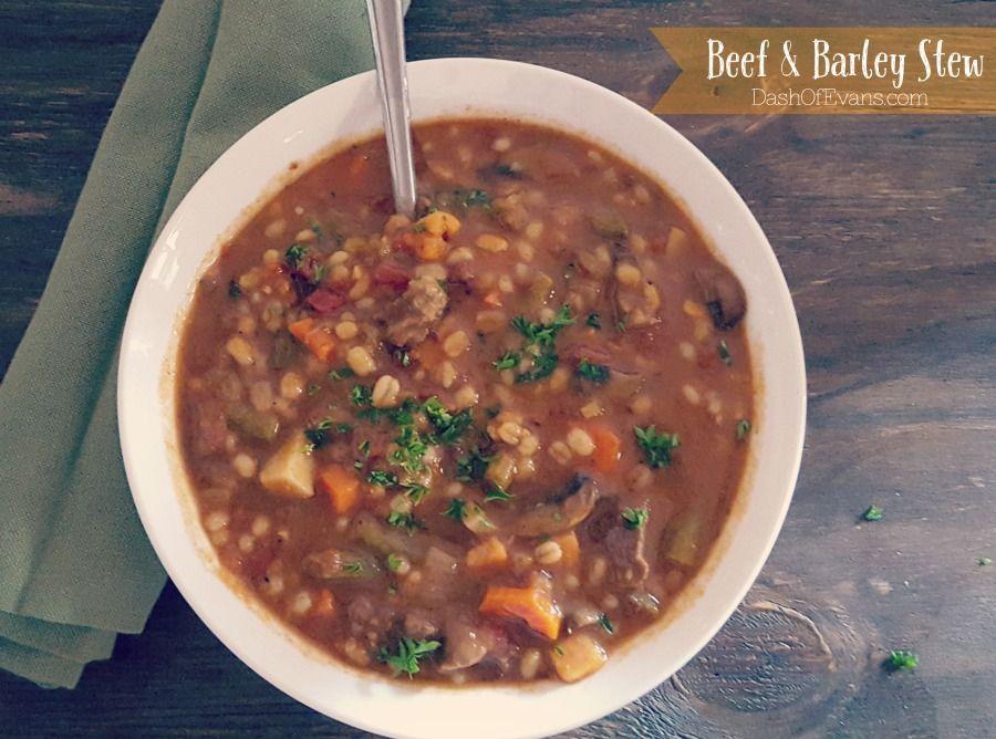 Mmmm Monday: Beef Stew with Barley | Stew recipes, Beef barley stew