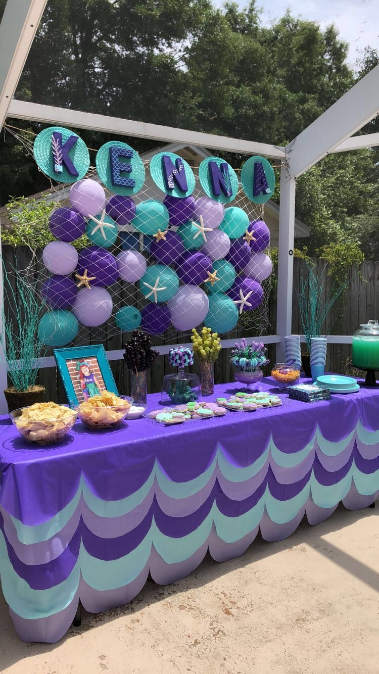 Mermaid birthday party. Mermaid pool party Mermaid theme