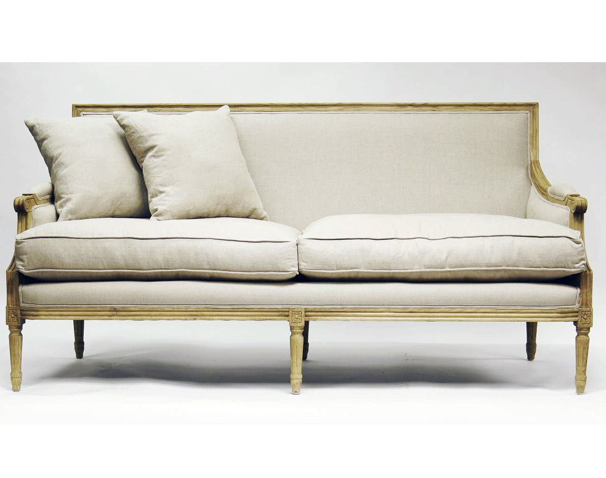 French furniture sofa - Paris French Sofa Natural Linen