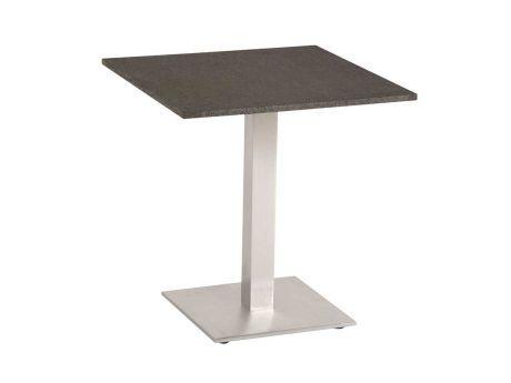 Stern Gartentisch Bistrotisch Aluminium Edelstahloptik Granit Dunkelgrau 70x70 Cm Kaufen Im Borono Online Shop Gartentisch Bistrotisch Aluminium