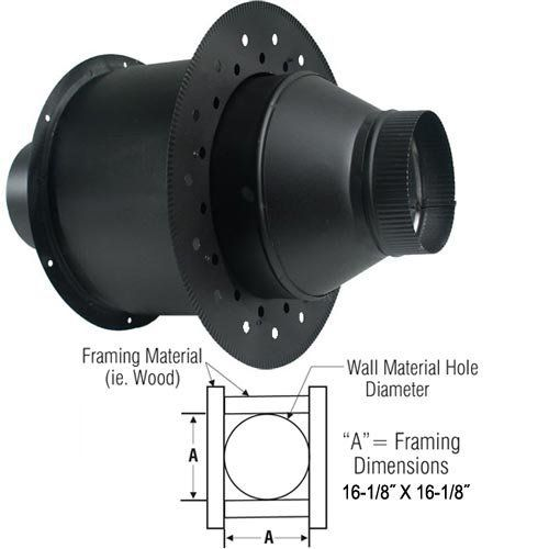 8 Dsp Insulated Wall Thimble Dsp 8 Iwt Click Image To Review More Details Roofing Roof Vents Framing Materials