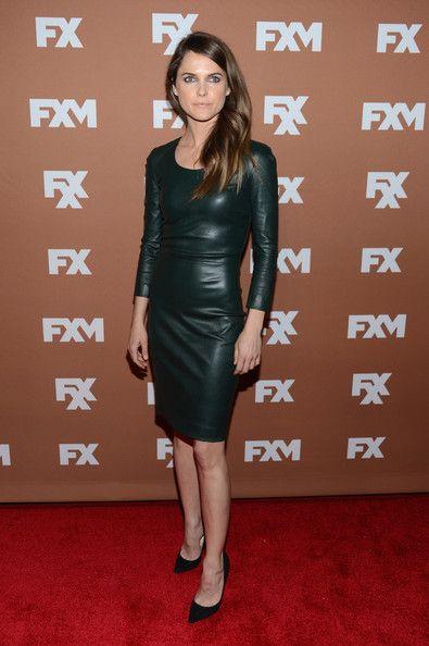 Keri Russell Leather Dress - Leather Dress Lookbook - StyleBistro