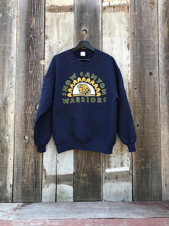 Vintage Snow Canyon Warriors Sweatshirt vODyY