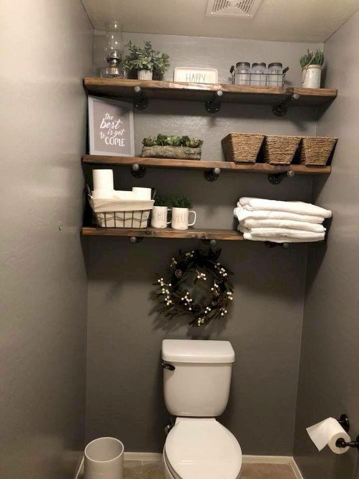 Photo of 80 erschwingliche rustikale Badezimmer-Speicher-Ideen
