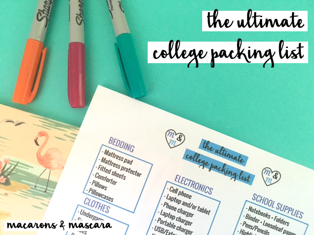 Printable Loose Leaf Paper A College Girl's Ultimate College Packing List  Free Printable .
