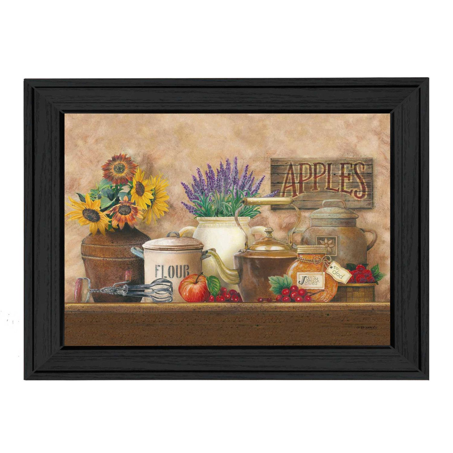 Antique-Kitchen-Ed-Wargo-Framed-Painting-Print.jpg (1500×1500)