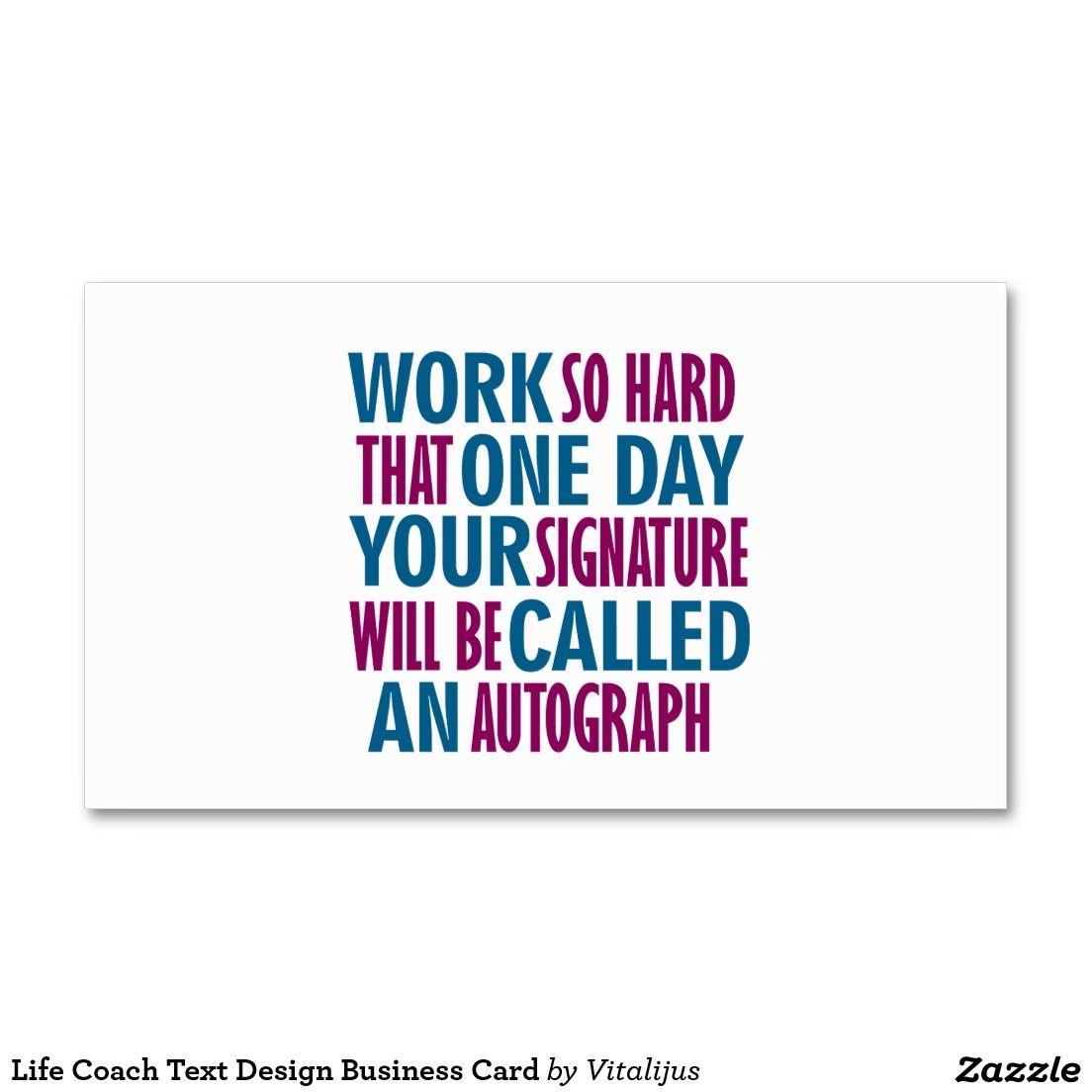 Life Coach Text Design Business Card | Beautiful Phrases | Pinterest