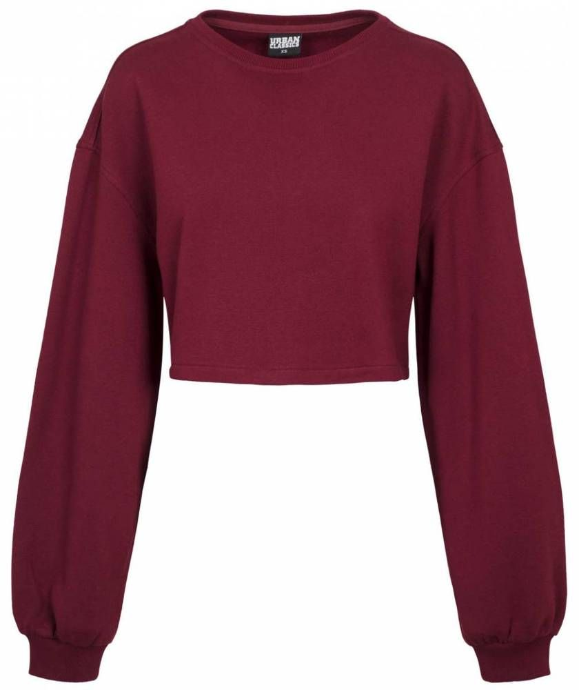 Urban Classics Ladies Oversized Short Crewneck Pullover Damen dunkelrot  Jetzt bestellen unter  ... 0087ff606c