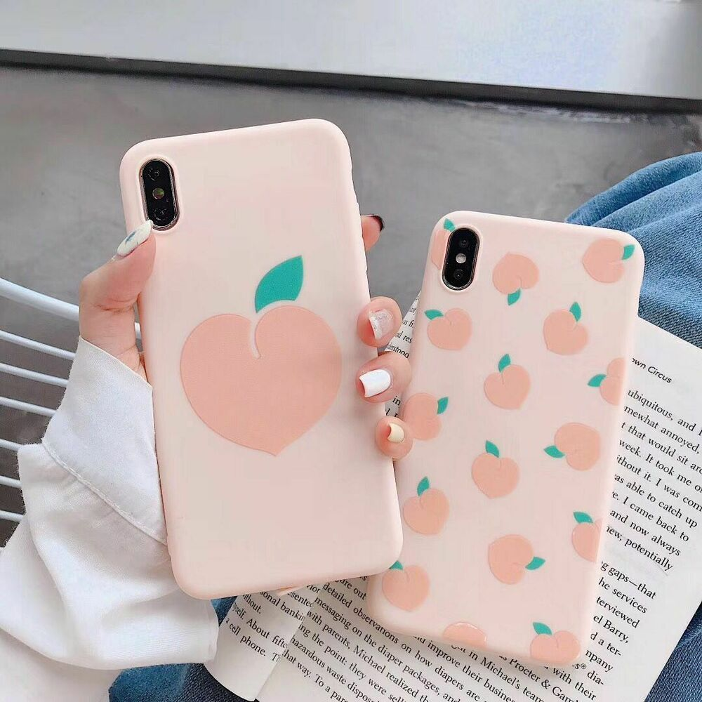 Summer Fruits Avocado Peach Cases for iPhone XR Cute Letter Phone Cases for iPhone Xs Max 6 6S 7 8 Plus Soft TPU Back Cover,Style 6,for iPhone Xs