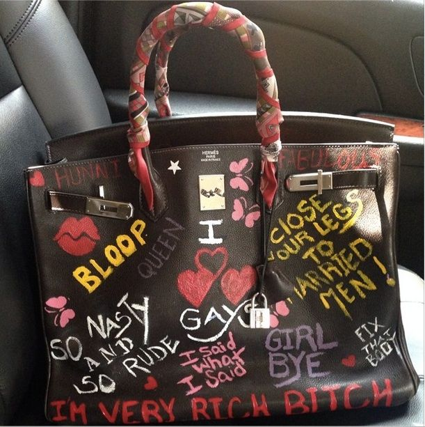 d07e849a58d9 NeNe Leakes Gets a Personalized Hermes Birkin Bag With All of Her Sayings  (PHOTO)