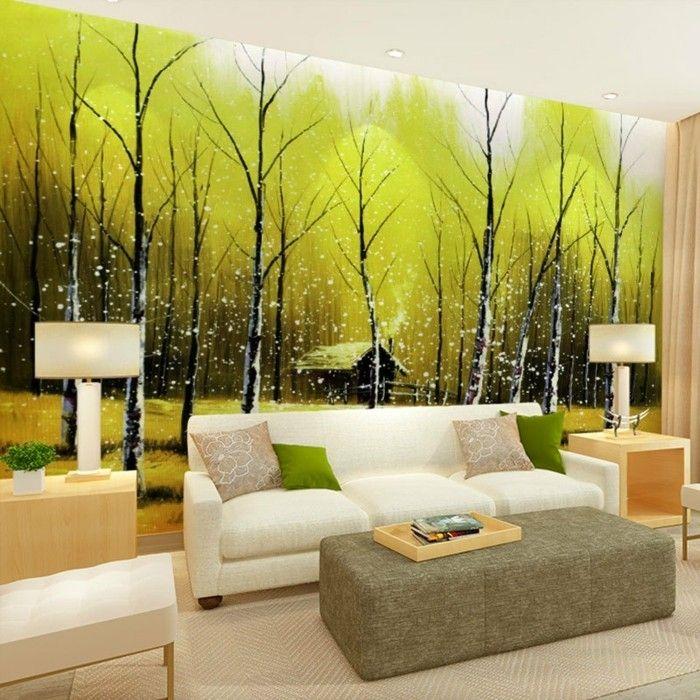 Leinwandbilder XXL - 60 wunderschöne Ideen für Wanddeko - Archzinenet - wohnzimmer weis holz