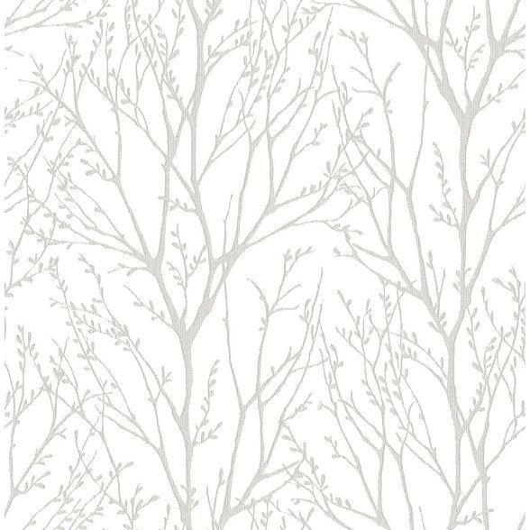 Treetops Peel Stick Wallpaper Brewster Target In 2020 Silver Tree Wallpaper Tree Wallpaper Nuwallpaper