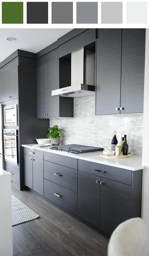 Kitchen color palette - amber black dark-cobalt-blue dark ...