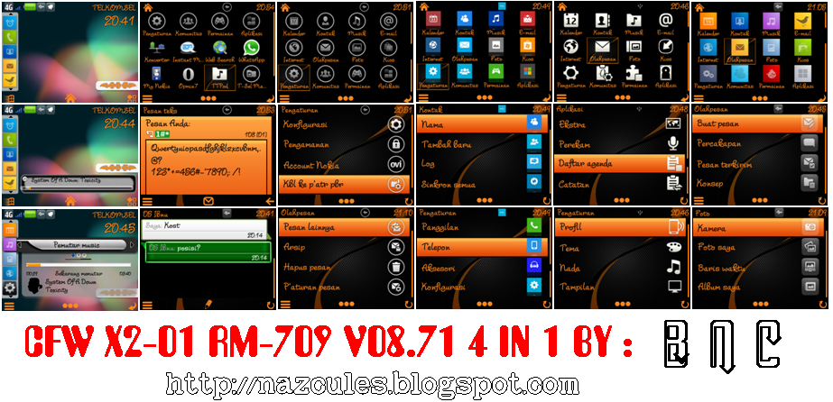 CFW Nokia X2-01 RM-709 4 in 1 | CFW Nokia