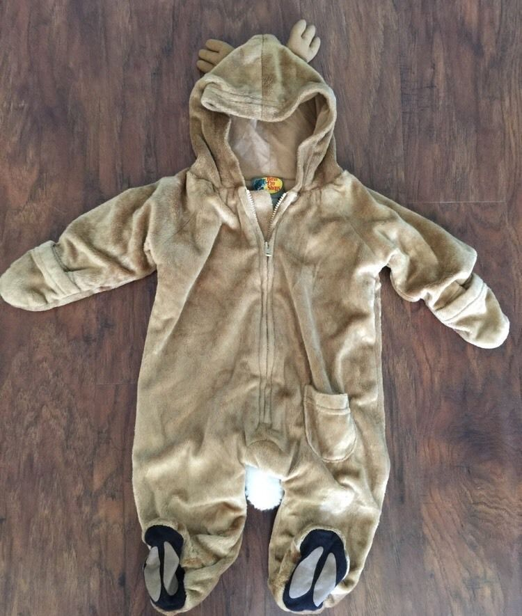 9acdf914a Bass Pro Shops White Tail Deer Winter Snowsuit Costume Size 3 6 ...