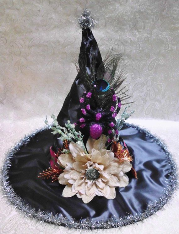 Halloween Witch Hat Halloween Costume Decorated Witch Hat