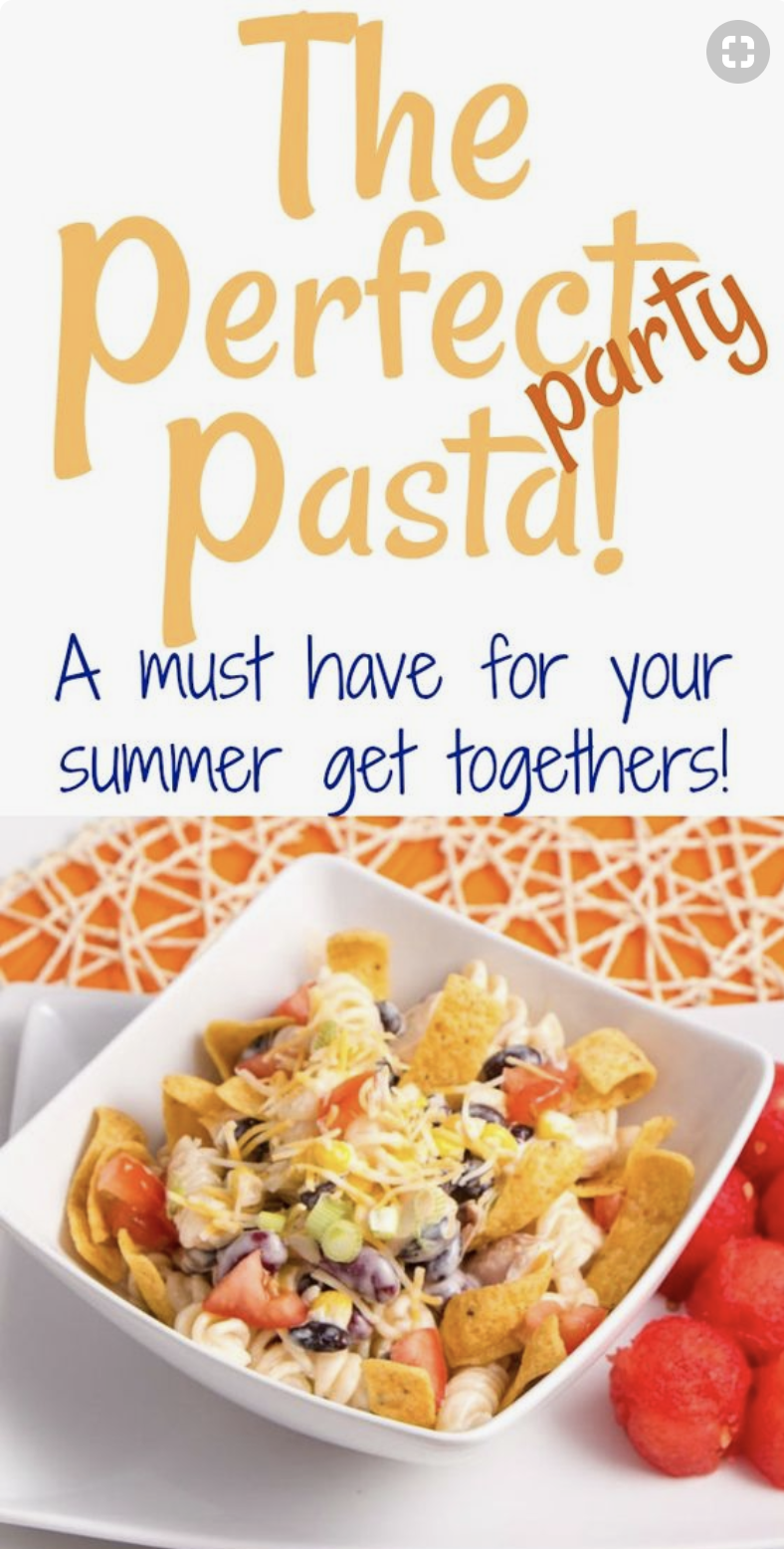 Wonderful Delicious Pasta Salad so quick and easy for potlucks. Chicken BBQ Ranch Pasta Salad is amazing. Perfect for dinner, Potlucks or bringing to the office. We love it!