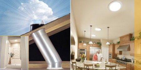 Solar Tube Sky Light That Magnifies Light Passive Solar Homes