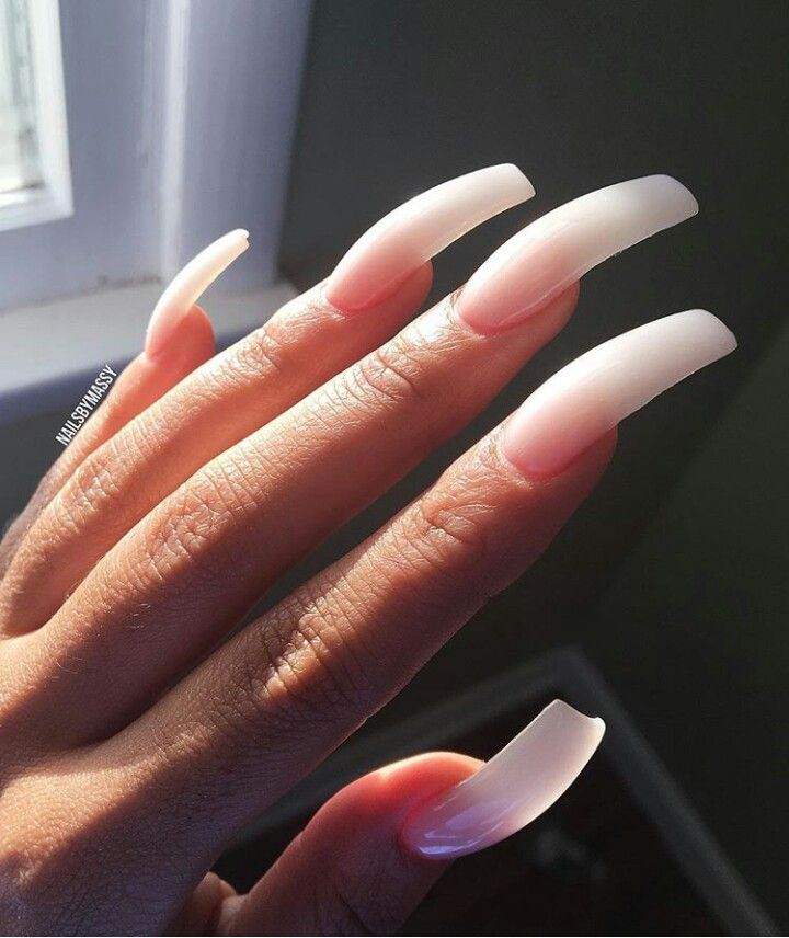 This Is So Pretty It S All Acrylic No Polish Curved Nails Long Acrylic Nails Classy Nails