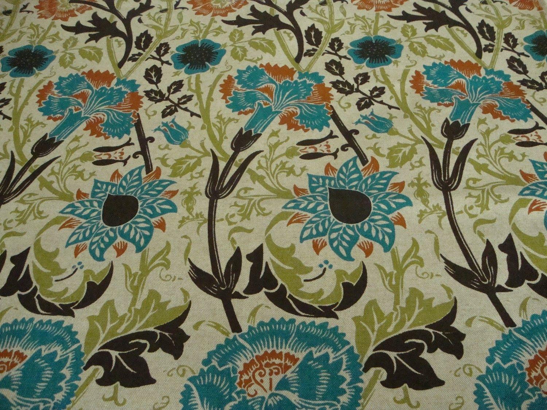 Lilypad Designer Linen  Curtain//Craft //Upholstery Fabric