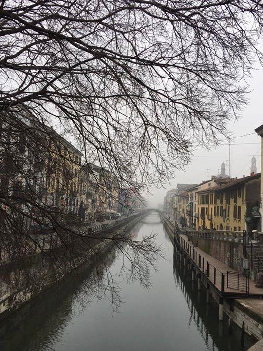 Buongiorno #Milano Con un filo di nebbia... Foto di Mila Boneschi #milanodavedere Milano da Vedere