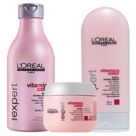 L Oreal Professional Vitamino Color Shampoo Conditioner And Masque Perfect For Keeping Your Beautiful Color Color Shampoo Loreal Shampoo