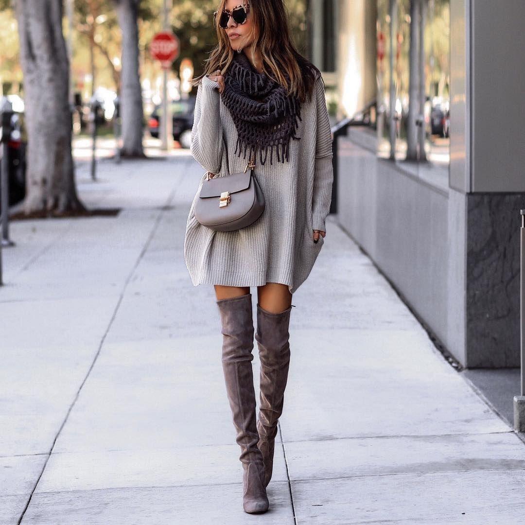 Overknee-Stiefel kombinieren: Outfits zum Verliebe