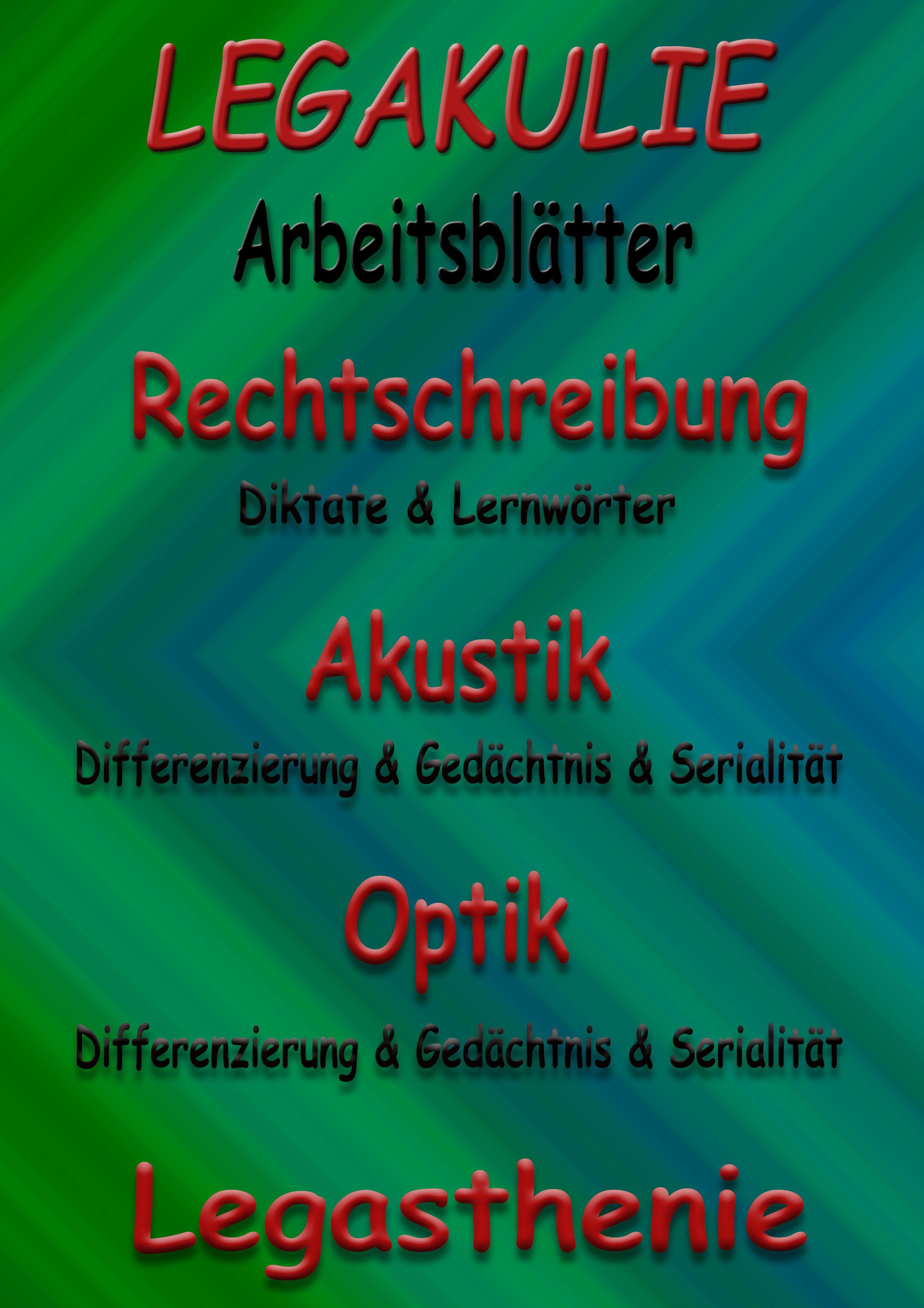 Legasthenie #Arbeitsblatt #PDF #Legasthenieunterricht Arbeitsblätter ...