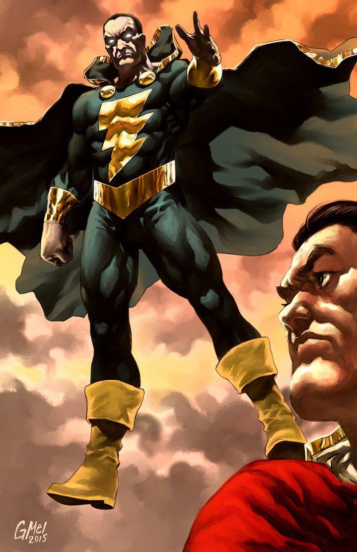 black adam and shazamglebthezombie | dc comics | captain marvel