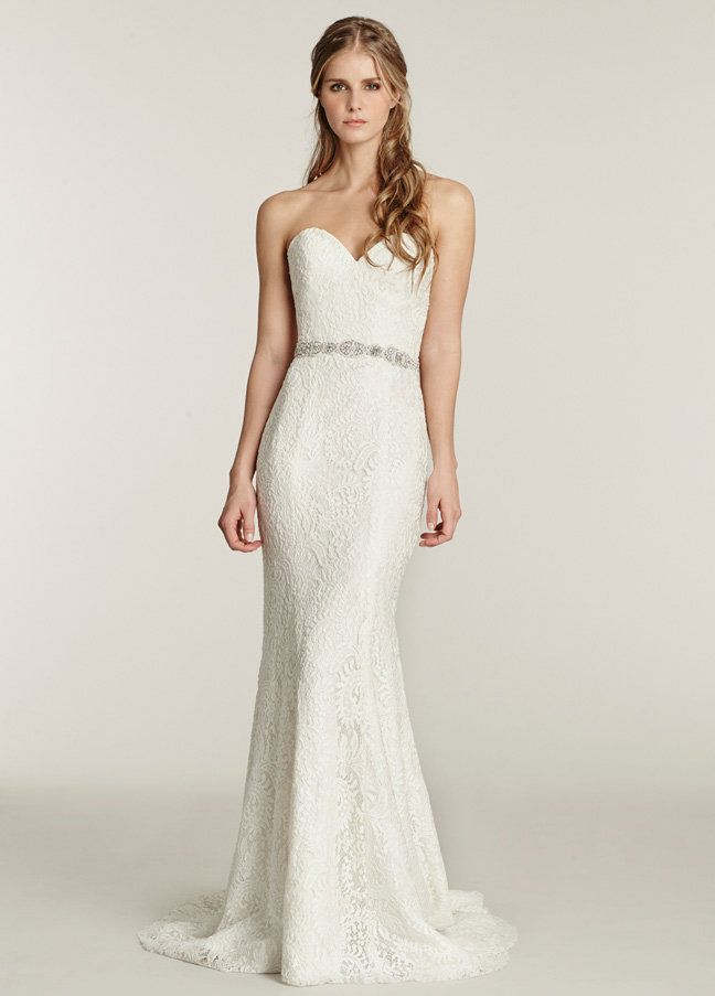 Ti Adora 7561 Ivory lace trumpet bridal gown. Strapless sweetheart ...