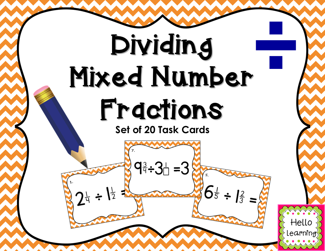 Dividing Mixed Number Fractions