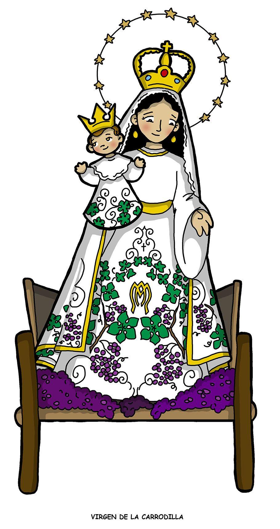 Pin Em Virgen Maria