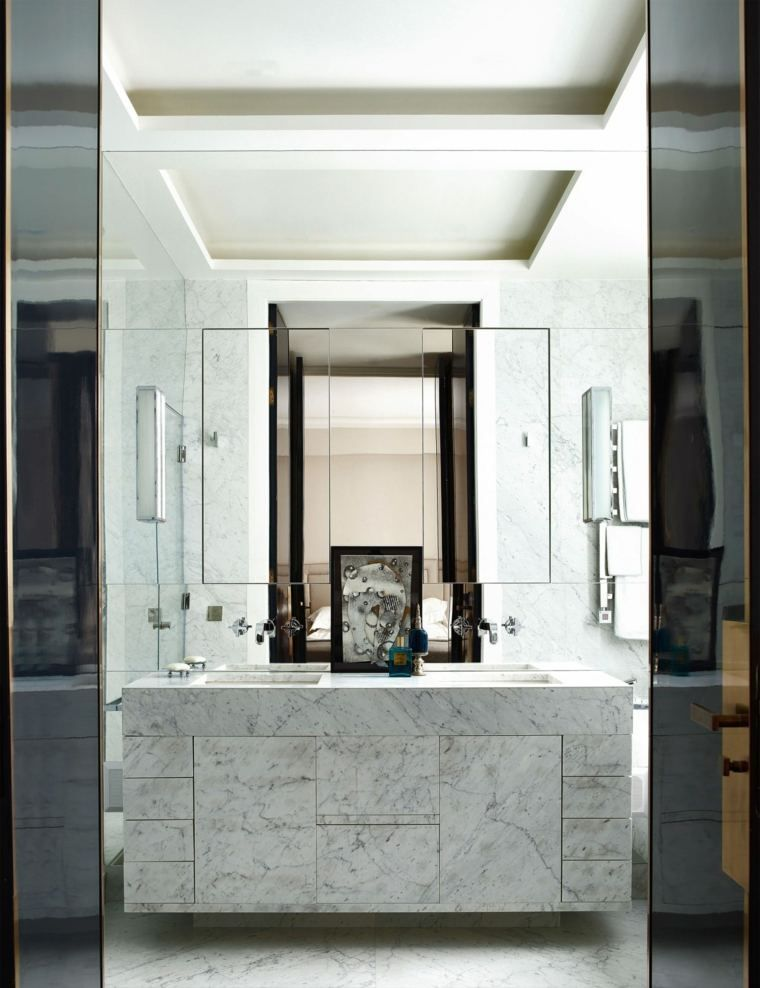 Schwarz Weiß Badezimmer In 24 Deko Ideen #badezimmer #ideen #schwarz