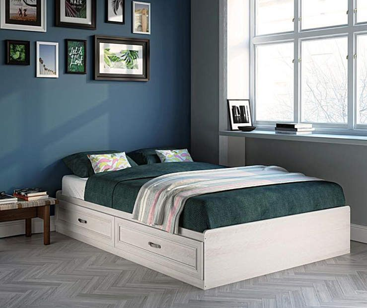Best Ameriwood White Magnolia Oak Full Mates Storage Bed 640 x 480